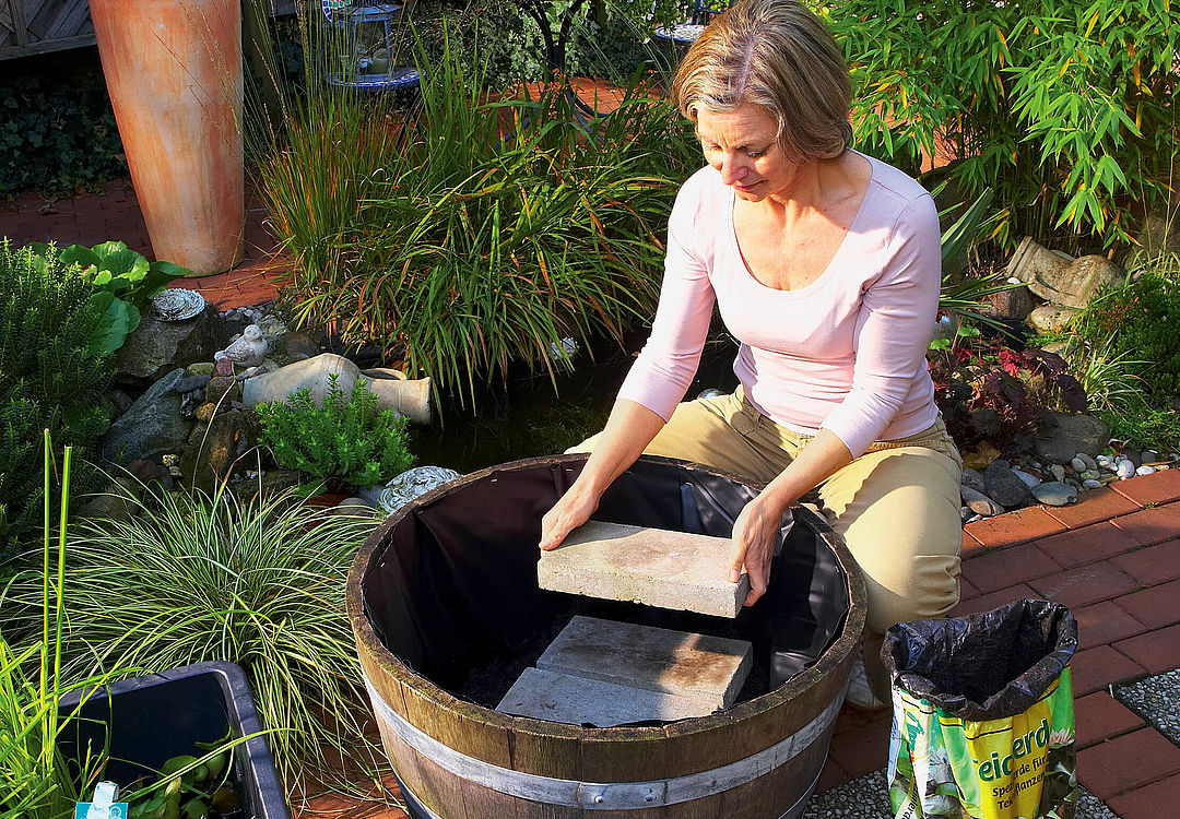 Building your own small garden pond