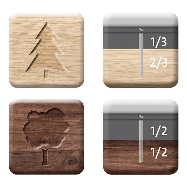 different tacker nail types for hardwood and softwood