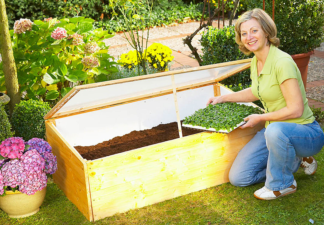 Building a cold frame out of wood with a tacker
