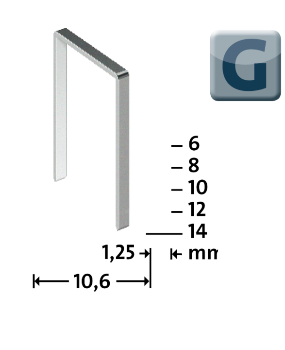 flat wire staples G type 11